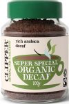 Clipper Fair Trade & Organic Super Special Decaffeinated Instant Freeze Dried Coffee 100g x6
