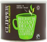 Clipper Fair Trade & Organic Decaffeinated Instant Freeze Dried Coffee 500g x4