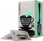 Clipper Fair Trade & Organic Peppermint Infusion String, Tagged and Enveloped Tea Bags 37.5g (25's) x6