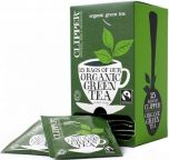 Clipper Fair Trade & Organic Green String, Tagged and Enveloped Tea Bags 50g (25's) x6