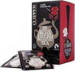 Clipper Fair Trade & Organic English Breakfast String, Tagged and Enveloped Tea Bags 62.5g (25's) x6