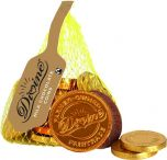 Divine Fair Trade Milk Chocolate Coins 65g x20