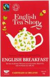 English Tea Shop Fair Trade and Organic English Breakfast Tea 40g (20's) x6