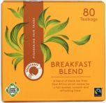 Traidcraft Fair Trade Breakfast Blend Teabags 250g (80's) x6