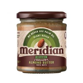 Meridian Organic Smooth Almond Butter 100% 6 x 470 g