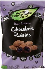 Raw Chocolate Raisins 12x28g Snack Packs