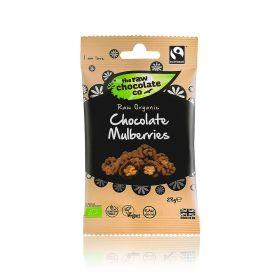 Raw Chocolate Mulberries 12x28g Snack Packs