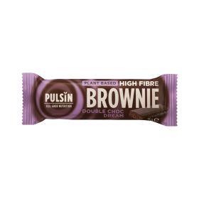 Pulsin enrobed high fibre brownie - choc dream 18x35g