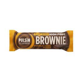 Pulsin enrobed high fibre brownie - choc fudge 18x35g