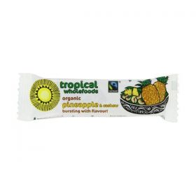 Tropical Wholefoods Organic Fairtrade Pineapple & Cashew Just Snack Bars 40g x18