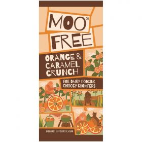 Moo Free Large Orange Crunch Bars 80g x12