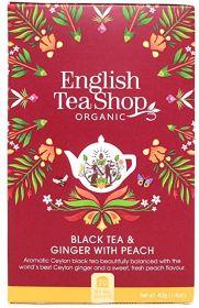 English Tea ORG & FT Black Tea & Ginger with Peach 40g (20s) x6