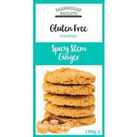 Farmhouse Gluten Free Spicy Stem Ginger Biscuits 150g x12