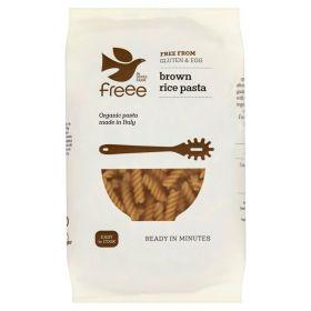 Doves Farm Freee Brown Rice Fusilli Pasta 500g x8