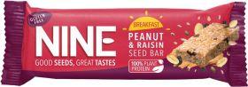 Nine Peanut and Raisin Breakfast Seed Bar 50g x16