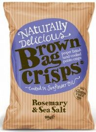 Brown Bag Rosemary & Sea Salt Crisps 40g x20