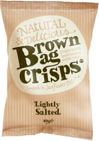 Brown Bag Crisps Lightly Salted 40g x20