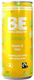 Be Bubbly Fairtrade Lemon and Lime Drink 250ml x24
