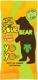 Bear Pure Fruit & Veg Mango and Apple Super Sour Yoyos 20g x18
