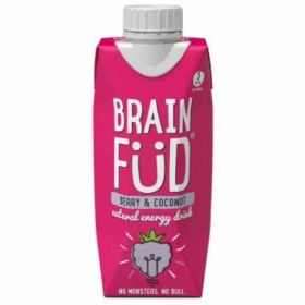 Brain Füd Berry and Coconut  Natural Energy Drink 330ml x12