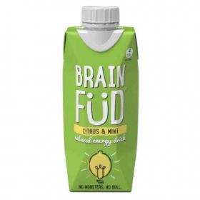 Brain Füd Citrus and Mint Natural Energy Drink 330ml x12