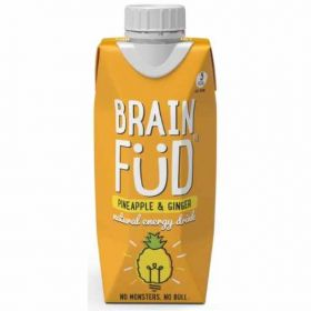 Brain Füd Pineapple and Ginger Natural Energy Drink 330ml x12