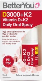 Better You Dlux+ Vitamin D + K2 Daily Daily Oral Spray 12ml x6