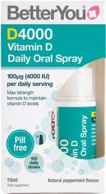 Better You DLux4000 Vitamin D Oral Spray 15ml x6