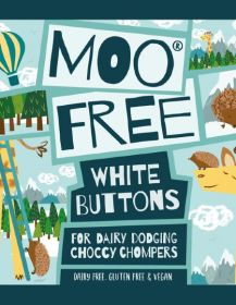 Moo Free White Chocolate Buttons 25g x25
