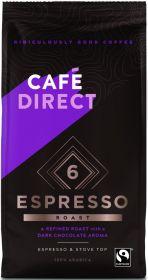 Cafédirect Fair Trade Arabica Espresso Roast Ground Coffee 227g x6