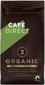 Cafédirect Fair Trade & Organic Smooth Roast & Ground Coffee (*Strength 3) 227g x6