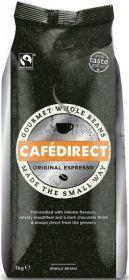 Cafédirect Fair Trade Espresso Coffee Beans 1kg x4