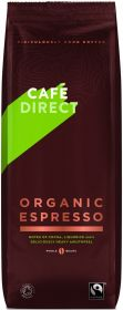 Cafédirect Fair Trade & Organic Espresso Coffee Beans 1kg x4