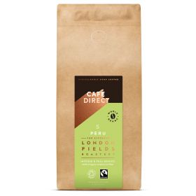 Cafedirect FT Organic LF Peru Whole Beans 6x1kg