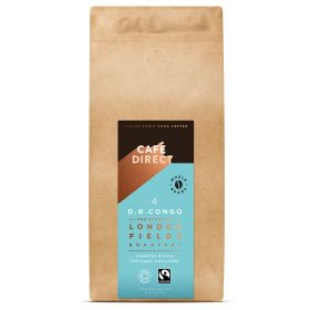 Cafedirect FT Organic LF Congo Whole Beans 6x1kg