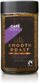 Cafédirect Fair Trade Smooth Roast Freeze Dried Instant Coffee 200g x6