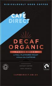 Cafédirect Fair Trade & Organic Decaffeinated Freeze Dried Instant Coffee Sticks 1.8g (250's) x4