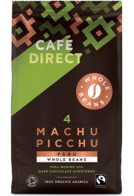 Cafedirect Fair Trade Machu Picchu Organic Beans 750g x6
