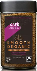 Cafédirect Fair Trade & Organic Smooth Freeze Dried Instant Coffee (*Strength 3) 100g x6