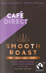 Cafedirect FT Freeze Dried Smooth Roast coffee pouches 12x200g