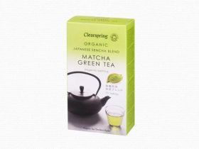 Clearspring Organic Japanese Matcha, Green Tea Blend - tea bags/box 6 x 20 bags (40g)