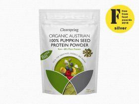 Clearspring Organic Raw 100% Austrian Pumpkin Seed Protein Powder 8x 350g