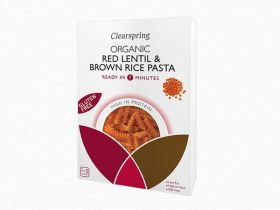 Clearspring Organic GF Red Lentil & Brown Rice Pasta - Fusilli 250g x 8