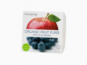 Clearspring Organic Fruit Puree - Apple/Blueberry 12 x (2x100g)