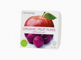 Clearspring Organic Fruit Puree - Apple/Plum 12 x (2x100g)