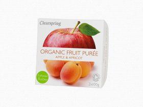 Clearspring Organic Fruit Puree - Apple/Apricot 12 x (2x100g)