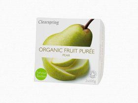 Clearspring Organic Fruit Puree - Pear 12 (2x100g)