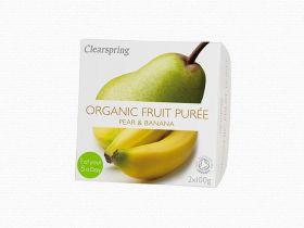 Clearspring Organic Fruit Puree - Pear/Banana 12 (2x100g)