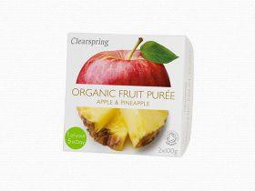 Clearspring Organic Fruit Puree - Apple/Pineapple 12 x (2x100g)