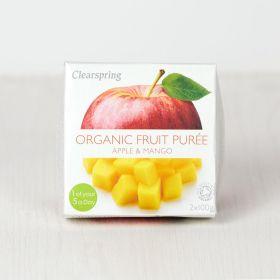 Clearspring Organic Fruit Puree - Apple/Mango 12 x(2x100g)